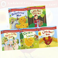 Ladybird First Favourite Tales 5 Books Collection (The Gingerbread Man) HARDBACK