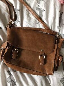 Warehouse Tan Vintage Satchell Handbag
