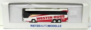 RietzeAutoModelle HO Gauge 1/87 Scale R43 Neoplan Cityliner Coach - Westin Buss