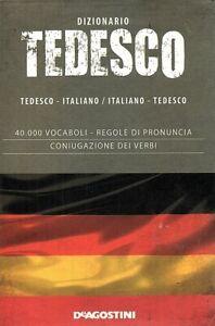 DIZIONARIO TEDESCO - ITALIANO - Lingua straniera - vocabolario - De agostini