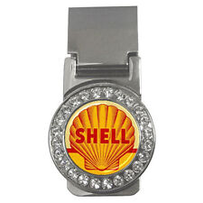 New Vintage Sign Shell Oil and Gasoline logo retro Money Clip Card Holder Rare!
