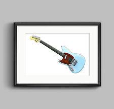 Kurt Cobain's Fender Mustang Custom - POSTER PRINT A1 size