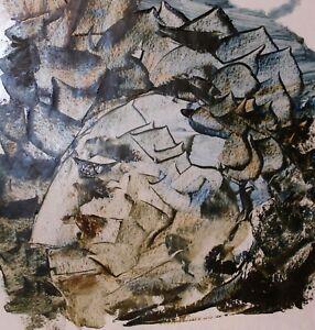 Original MIX.MEDIA on  paper contemporary art ABSTRACT V.Pronkin 2021  PALLET 35
