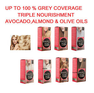 FARO Permanent hair dye colourant,100% GREY COVERAGE,7 Blonde shades,SELECT: