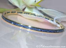 Natürliche Armbänder im Armreif-Stil mit echten Edelsteinen Saphir