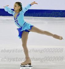 Lovely Ice Skating Dress.Blue Figure Skating Dress.Dance Baton Twirling Costume