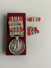 More details for british fire services association silver 20 years long service medal 902 f.allum