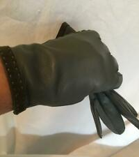 New Gray Gloves Leather size 7.5 Classique made in Italy wrist length vintage