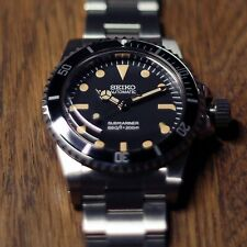 Vintage 5513 Sub Style Diver Homage/Mod Watch - Seiko NH35 Movement