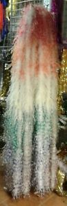 White and Multi Color Fluffy Ostrich Feather  Boa For Parties and Celebrations