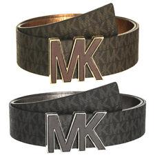 Michael Kors Feminino Premium MK logotipo Signature Placa Cinto De Couro Sintético 553504