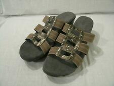 Bass Women's Delilah Sandals Bronze Metallic Wedge Slide On sz 8.5M