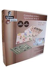 Spiele Set Holz 4in1 Mühle Schach Dame Reisespiele Spieleset Spielesammlung NEU