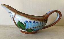 EL PALOMAR Mexico pottery by KEN EDWARDS gravy/sauce boat in TONALA pattern