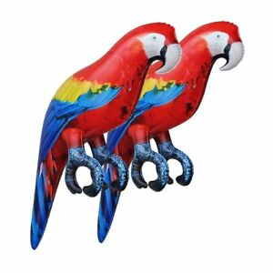 Jet Creastions 2pcs Inflatable Parrot 24 inch Long bird Pet Animal Party