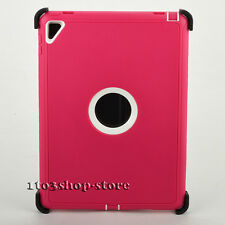 iPad Pro 9.7 2016 Hard Shell Case w/Stand Cover fit Otterbox Defender Pink/White