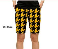 LOUDMOUTH BIG BUZZ women GOLF shorts SIZE 0 black yellow