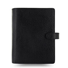 Filofax Pocket Size Finsbury Organiser Planner Diary Black Leather - 025360