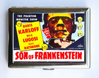 Frankenstein Cigarette Case horror movie poster monster goth lugosi korloff