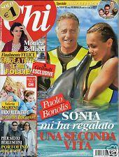 Chi CHI n.16 monica bellucci valeria marini totti ilary blasi italian magazine
