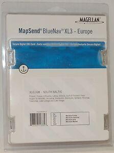 NEW Magellan MapSend BlueNav Europe Maps XL3 SOUTH BALTIC SD Card Meridian Gold