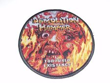 DEMOLITION HAMMER TORTURE EXISTENCE WOVEN PATCH