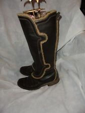 TIMBERLAND WOMEN BROWN LEATHER ZIP KNEE HIGH BOOT SIZE UK 4 EU 37 US 7 W VGC