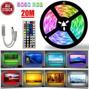 5050 RGB LED Strip Lights Waterproof 5m 10m 20m 12V 44key IR Controller