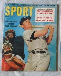 Mickey Mantle New York Yankees August 1960 SPORT Magazine ex+