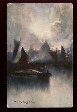 London St Pauls artist Prof Van Hier Tuck Oilette #7153 vintage PPC