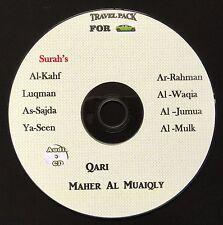 Al Quran Audio CD for cars -by Qari Maher Al Muaiqly- Selected Surah's