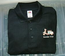 New Designer Scooter club Black Polo Shirt various sizes  mod