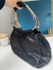 Genuine Vintage Black Leather Prada Bag