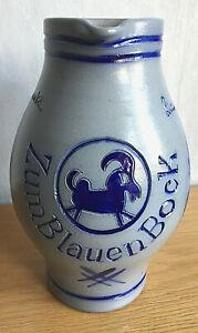 *Original Bembel*RARITÄT!ca.2L**Heinz Schenk*Blauer Bock*handarbeit&signiert!