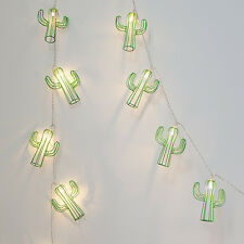 20 Cactus Battery Operated Indoor LED Fairy String Mexican Party Lights