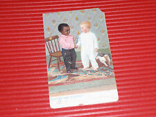 ANTIQUE POST CARD      2 BUDDIES  EBONY AND IVORY    CAN'T WE ALL JUST GET ALONG