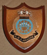 HMS Ariadne desk plaque shield ships crest Leander class frigate cod war