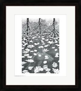 "Framed Art, ""Three Worlds"", by M.C. Escher, 32x26"