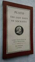 PLATO THE LAST DAYS OF SOCRATES H TREDENNICK 1ST/1 1954 PENGUIN L37 LIKE UNREAD
