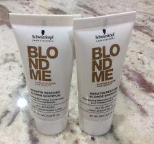 Schwarzkopf BLONDME Keratin Restore Blonde Shampoo All Blondes 2 X 1oz Travel sz