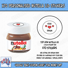 X70 Nutella - Personalised Nutella Lid Stickers - Make your own Lid Sticker -25g