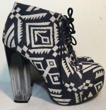 Size AU 5 / EUR 36 Women's Solid Textile Textured Peep Toe Stiletto Shoes