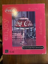 Coca Cola Stained Glass Style Accent Lamp *Brand New*