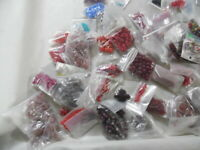 8x8mm Square Glass Beads 30 Pound Box Full Of Beads As Pictured 10,000-15,000