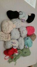 Bucilla Mohara/Mist Air vintage 1960's Italian wool/mohair 12 40 gram balls NEW!