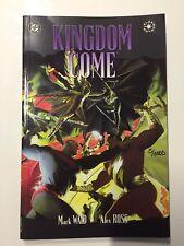 DC comics KINGDOM COME TPB graphic novel - Alex Ross Signed Rare