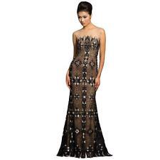 JOVANI 4263 NEW Black Strapless Column Formal Dress Gown 8