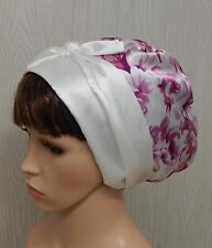 Satin head scarf silky sleeping bonnet cap women head wrap curly hair covering