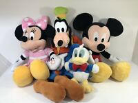 Mickey Mouse Minnie Mouse Goofy Donald Duck Plush Teddy Bundle