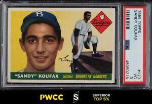 1955 Topps Sandy Koufax ROOKIE RC #123 PSA 3 VG (PWCC-S)